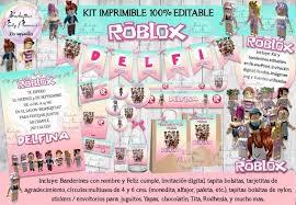 Roblox é uma plataforma online gratuita que permite aos usuários criarem mundos virtuais e diversos tipos de jogos. Kit Imprimible Roblox Nina Pastel 100 Editable Mercado Libre