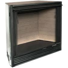 dual gas fireplace dual fuel gas wood fireplace