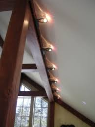 lighting for beams. Small Halogen Track Lighting Is Useful As It Can Be Hidden By A Beam Yet Project For Beams