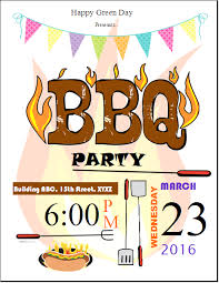 Publisher Flyers Bbq Party Invitation Flyer Template Publisher Flyers Pinterest