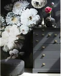 Pin Van Tanja Priems Op Livingroom Bloem Behang Bloemen