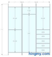 Standard Closet Rod Height Gorgeous Standard Heights For Closet Rods Home Remodel Decorating