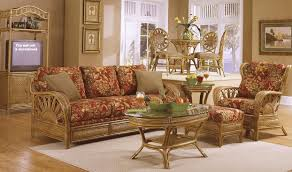 Wicker Living Room Sets Rattan And Wicker Sunroom Furniture Sets