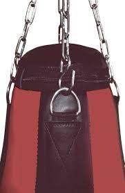 4fighter professional imitation leather punching bag sandbag teardrop black red not filled