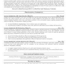 Linux Administrator Resume Sample Admin Resume Gallery Ideas
