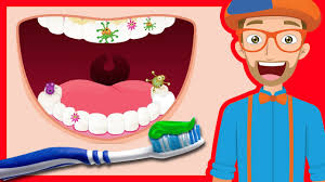 tooth brushing by blippi 2 minutes brush your teeth for kids you
