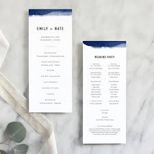 Wedding Ceremony Brochure Edge Dipped Modern Wedding Program Fine Day Press