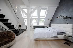 Prague Bedroom Furniture Modern Attic Loft With Grey Palette In Prague Idesignarch
