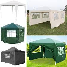 details about 2mx2m 3m 4 5m 6m outdoor garden gazebo marquee wedding party tent w side cover