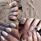Дизайн ногтей свитер бархатным песком видео