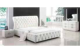 White Leather Bedroom Set Inspirational Contemporary White Queen