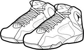 Coloring Pictures Of Shoes Air Jordan Bordeaux Shoes Coloring Page