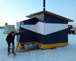 Reel Cold Comfort  Creative Ice Fishing Hut Designs   UrbanistScanty Shanty