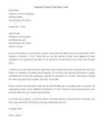 Sample Letter Of Termination Of Service Agreement