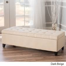 fabric storage ottoman bench. Shop Mission Tufted Fabric Storage Ottoman Bench By Christopher Knight Home Free Shipping Today Overstockcom 8035205 Intended