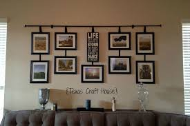 wall dcor curtain rod with hanging frames texas craft house