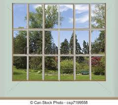 window from outside looking in. Perfect Outside Looking Outside To The Garden  Csp7199558 In Window From Outside Looking