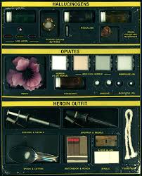 Drug Identification Chart 1960s Narcotics Dangerous Drugs Identification Kit