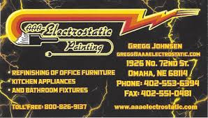 aaa electrostatic painting business card