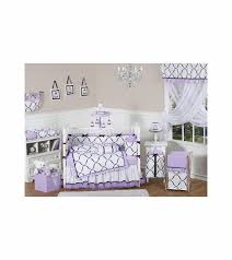sweet jojo designs princess black white purple 9 piece crib bedding set