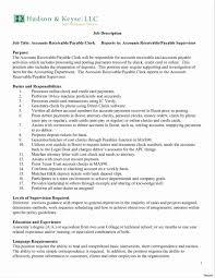 Sample Accounts Receivable Clerk Cover Letter Accounts Payable Job Description Resume Accounting Clerk