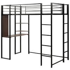 twin loft bed metal loft bed frame