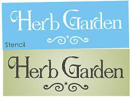 joanie stencil prim herb garden mint thyme lavendar country kitchen art signs