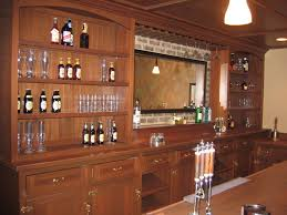 Decorations:Horrible Small Home Bar Ideas With Stone Bar Table And Round  Leather Bar Stools