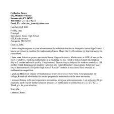 Teaching Cover Letter Example Best Teacher Cover Letter Examples