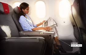 a fortable premium seat with 140 centimetres legroom