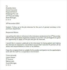 Gallery Of Proper Follow Up Letter After Interview Sample Letter