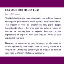Aries Birth Chart Analysis Leo On The 9th House Cusp Source Astrology Club