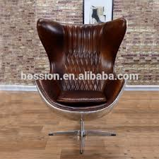 chair vintage. arne jacobsen vintage style aviator leather egg chair