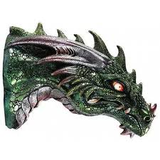dragon led light wall plaque at mythic decor dragon statues angels demons