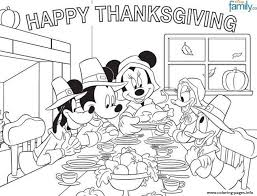 Disney Thanksgiving Coloring Page For Kidsefec Coloring Pages Printable