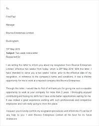 Writing Two Weeks Notice Printable Two Weeks Notice Letter Sample Resignation 4 2 Week Giving