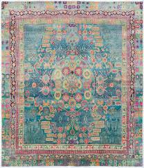 pink and teal rug incredible silk ethos 5 0 x6 3 oriental rugs runner outdoor interiors
