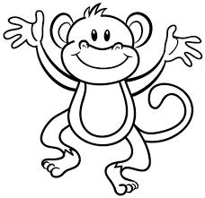 Cartoon Monkeys Coloring Pages Free Coloring For Kids 2018
