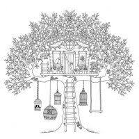 Small Picture Treehouse Coloring Page for Kids Color Luna Quilt ideas