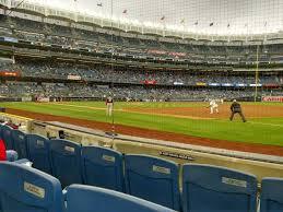Yankee Stadium Legends Seating Chart Yankee Stadium Section 014a Row 3 Seat 1 New York