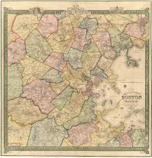 old maps of boston ma