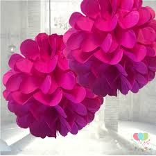 Paper Flower Balls To Hang From Ceiling Dark Pink Tissue Paper Pom Poms Flower Decorations Ball Artificial Hanging Wedding Flowers Party Ceiling Decorations Ball Pom Pom Party Balls