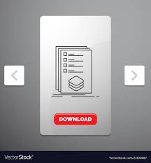 Design Check Categories Categories Check List Listing Mark Line Icon In Vector Image On Vectorstock