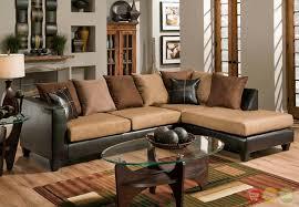 microfiber sectional sofa. Wonderful Sectional Chocolate Microfiber Sectional Sofa Jefferson On Sofa L