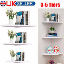 3 5 tier white corner shelf wall