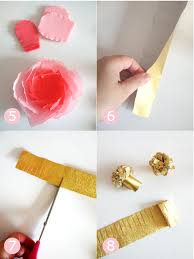 How To Make Paper Flower Bouquet Step By Step Diy Crepe Paper Flowers Bouquet Party Ideas Party Printables Blog