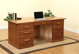 executive wood desk made executive desk with raised panel back used wood executive desk for