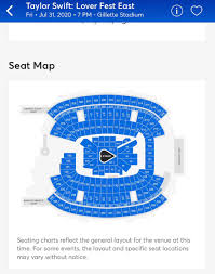 Ticketmaster Taylor Swift Seating Chart
