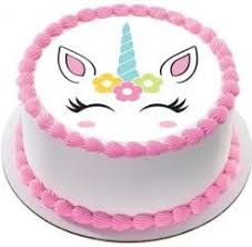 Simple Unicorn Birthday Cake Food Drinks Baked Goods On Carousell