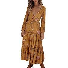 Amazon Com Kineede Women Ladies Casual V Neck Long Sleeves